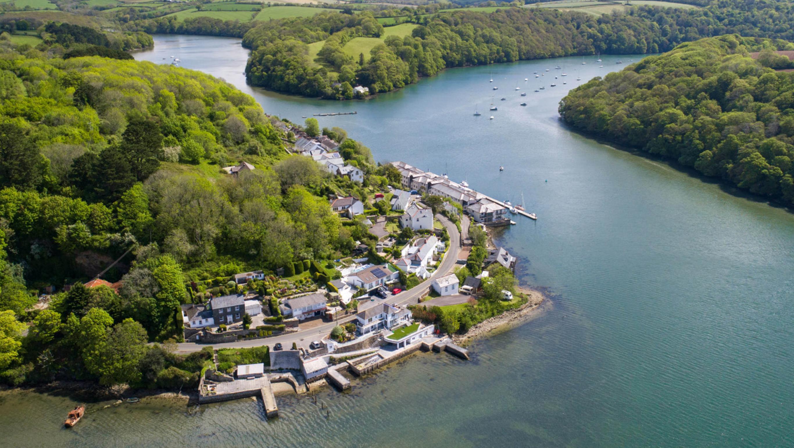 Drone Photo of Malpas Cornwall