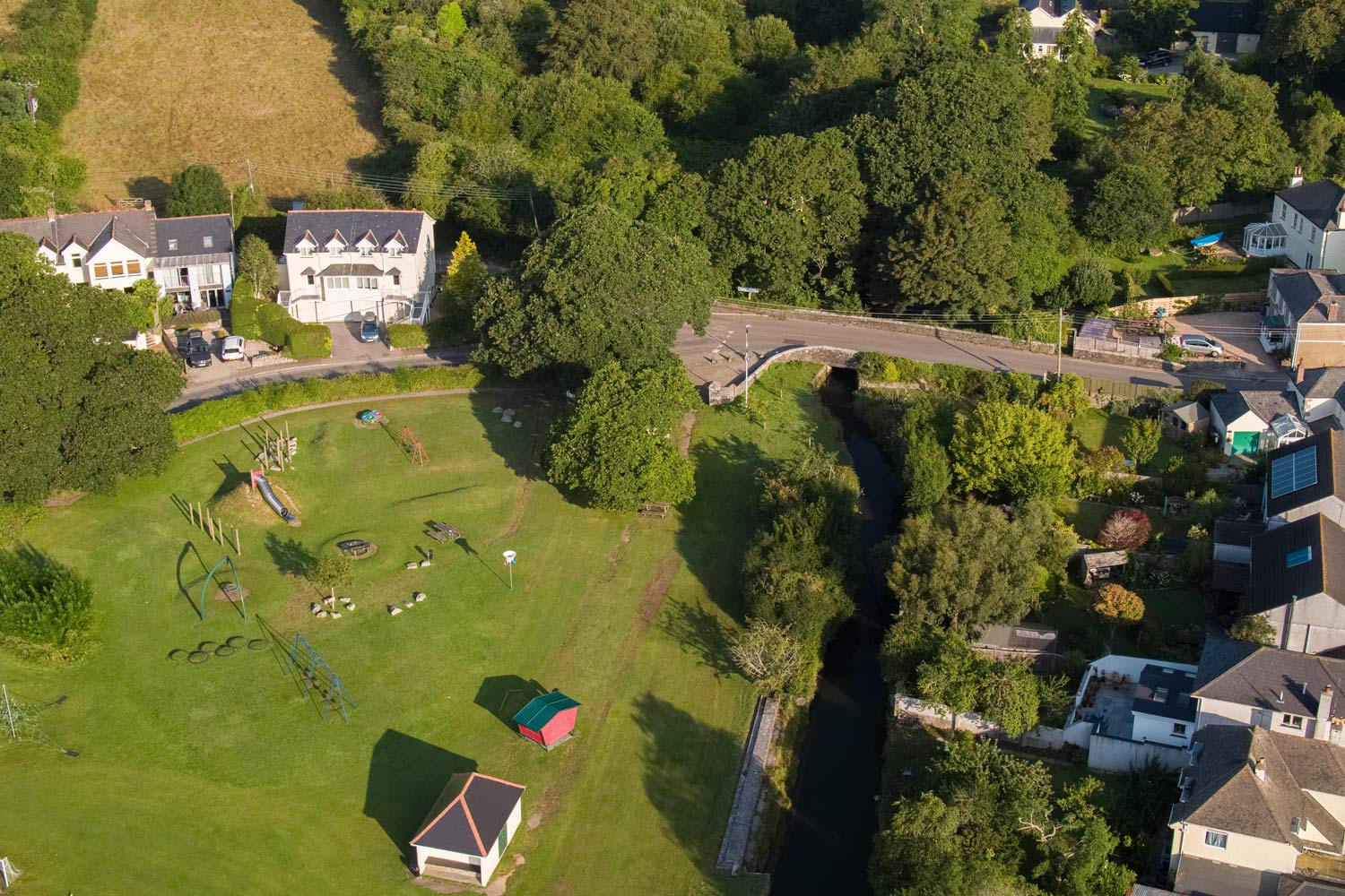 Drone Photograph of Creekview and Mylor Park