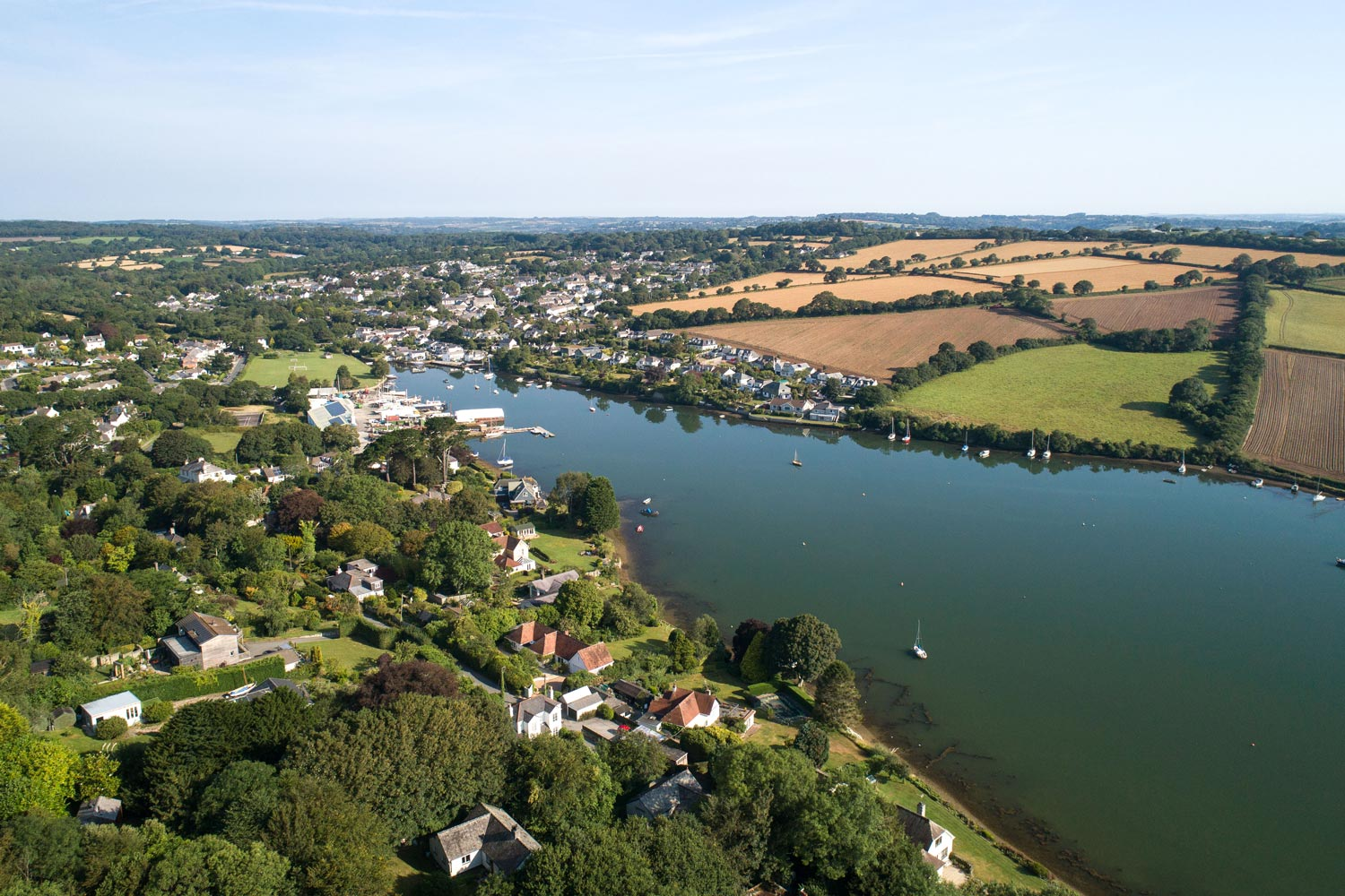 Drone Photograph of Mylor