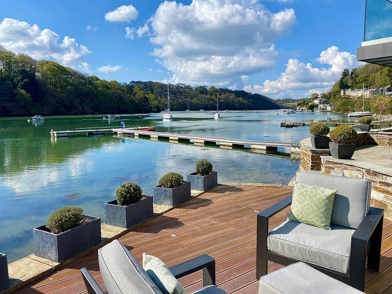 Curlew Seaside Deck and View of Malpas River