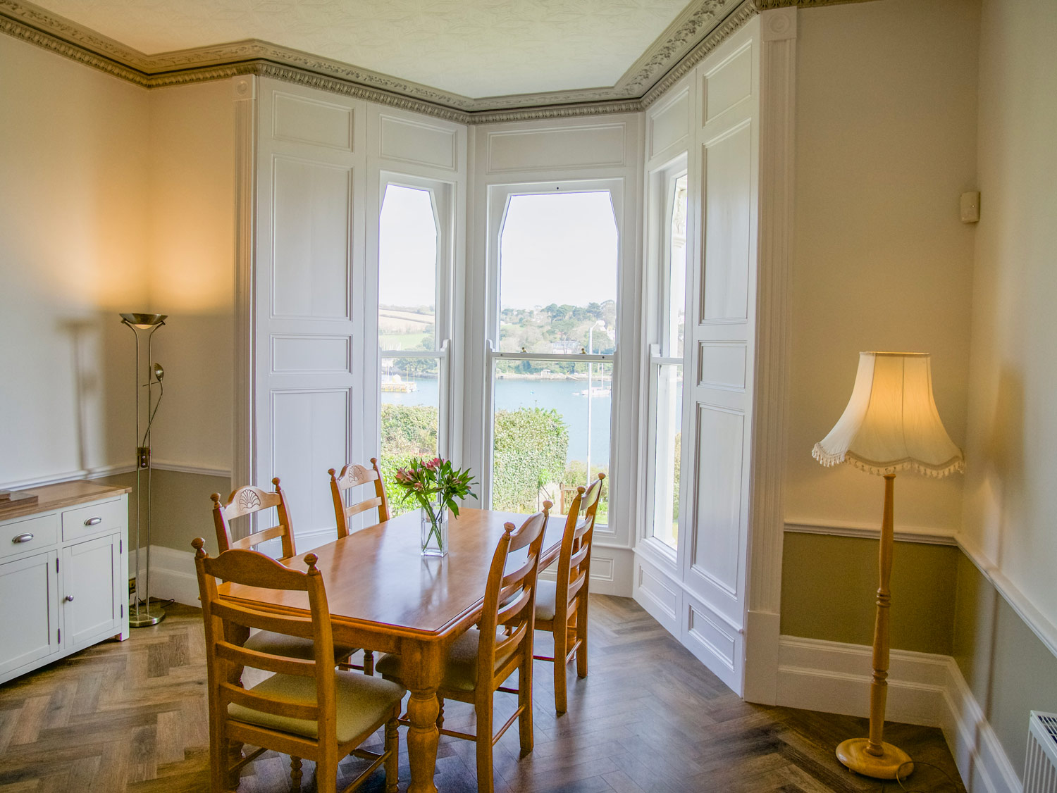 Riversdale Dining Area with Sea Views