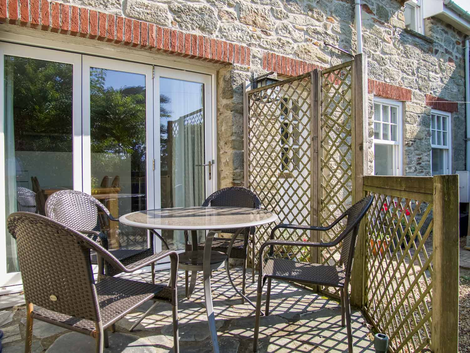 Stable Cottage Outdoor Seating Area