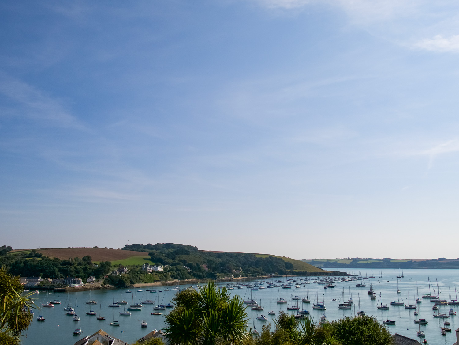 Views of Falmouth Harbour and over to Flushing