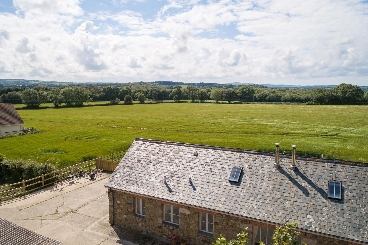 Swift Barn From Above with a view of the countryside!