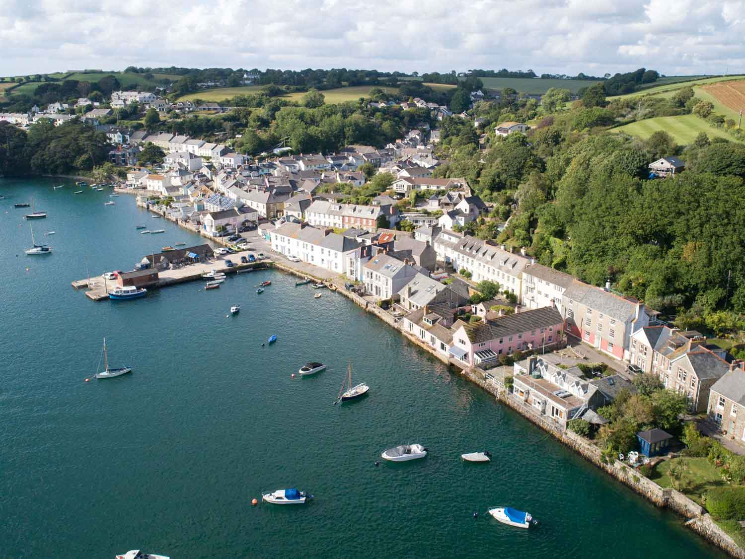 Drone Photograph of Flushing Cornwall