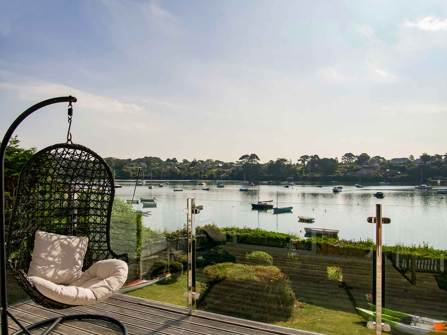 Trecarth Balcony & Seating with view of Restronguet Creek