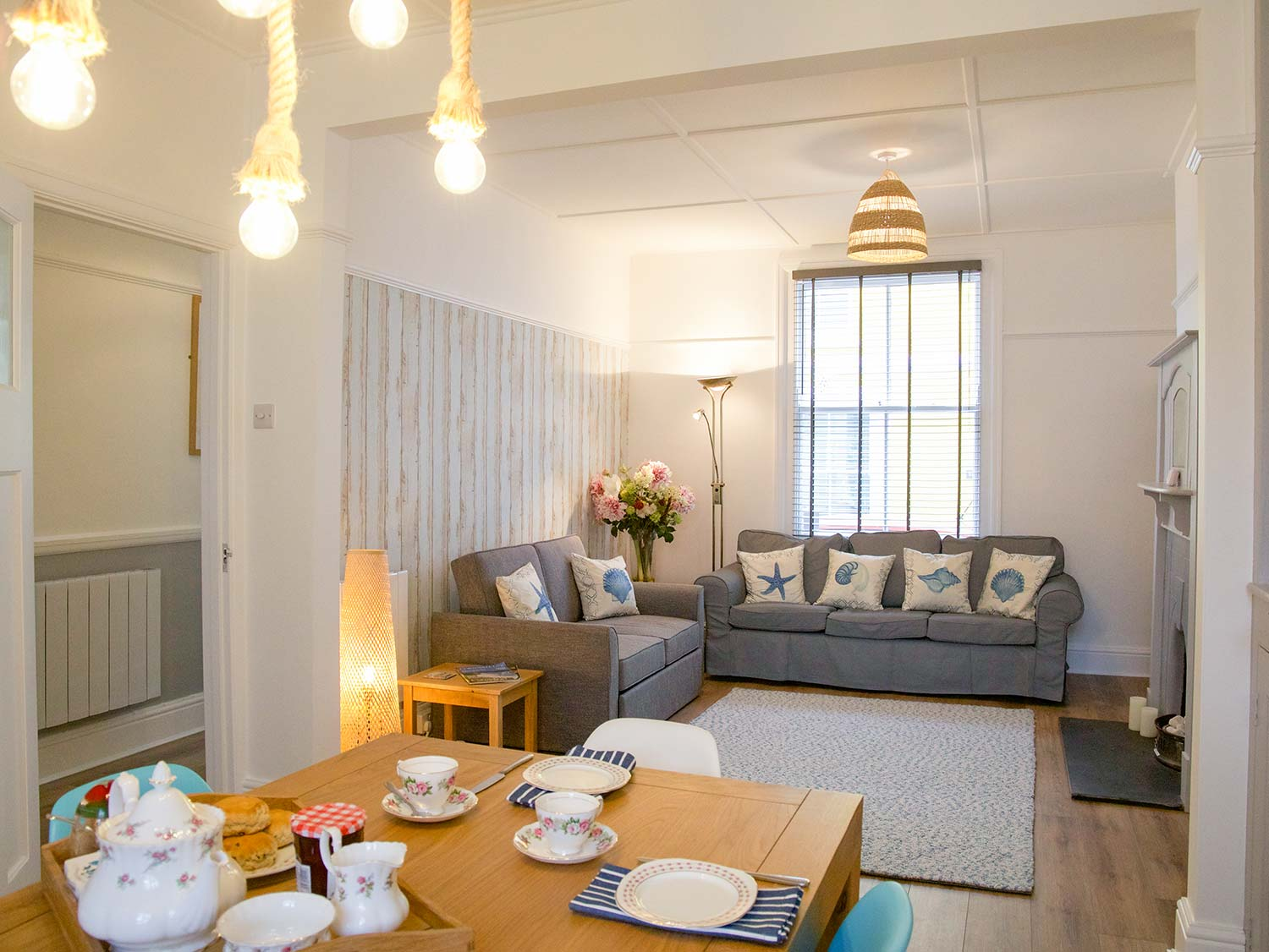 Slipway Cottage Living Room and Dining Area