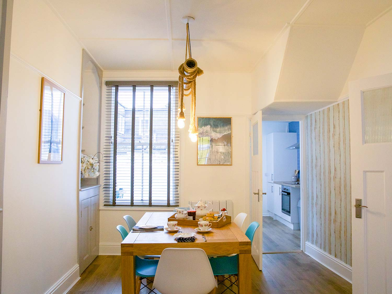 Dining Area at Slipway Cottage seating up to 6 people